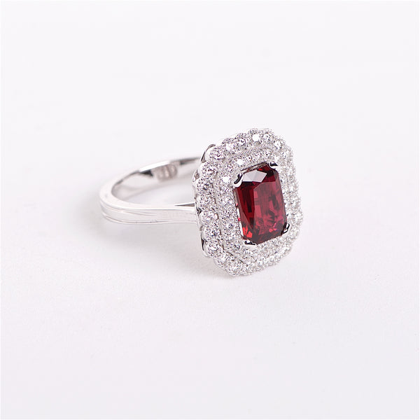 The Suzy - GIA certified 18K Ruby and Diamond ring