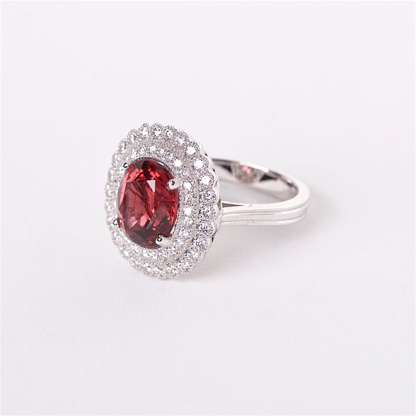 The Rosie - 18K GIA Certified Red Spinel and Diamond Ring