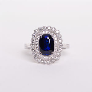 The Indigo - 18K GIA Certified Blue Sapphire and Diamond Ring