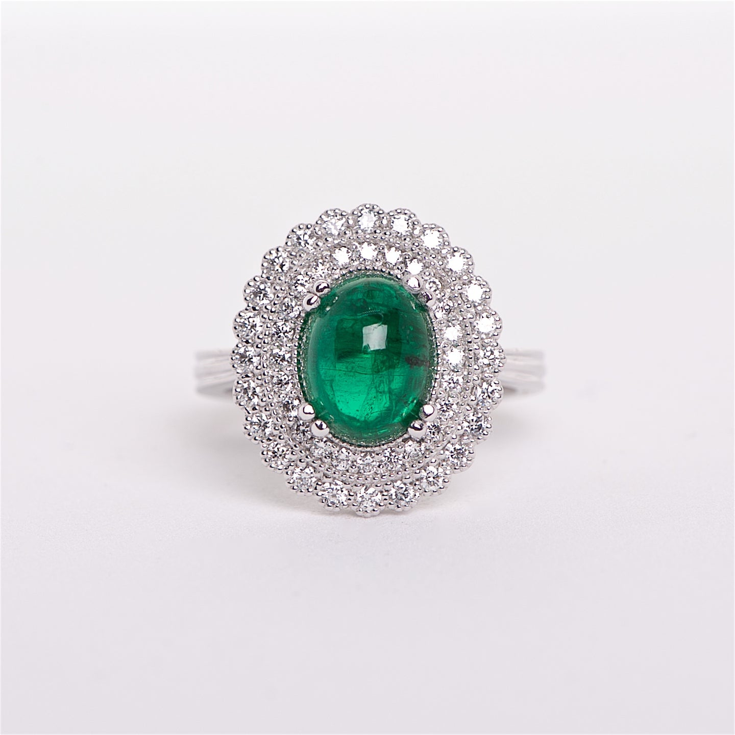 The Lauren - GIA certified Emerald and Diamond ring