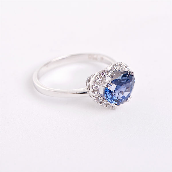 The Annabelle - GIA Certified Blue Sapphire and Diamond Ring