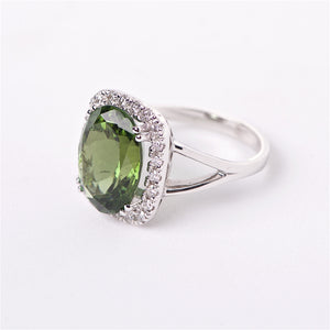 The Isabelle - Green Tourmaline and Diamond Ring