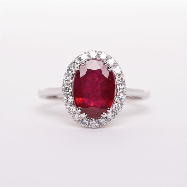 The Zara - GIA Certified Ruby and Diamond Ring