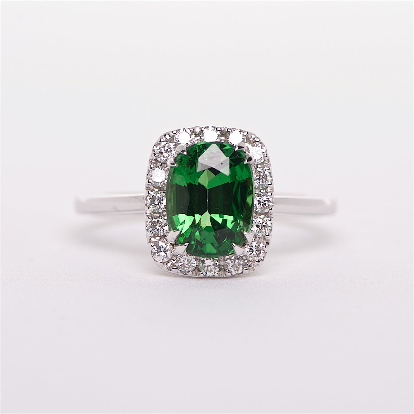 The Eva - 18K Tsavorite and Diamond Ring