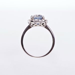 The Celestial - GIA Certified 18K Blue Sapphire & Diamond Ring