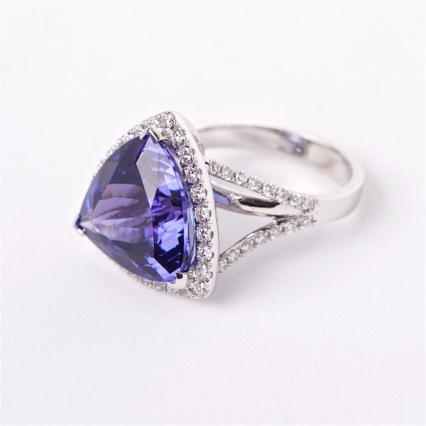 The Stephanie - Tanzanite and Diamond Ring
