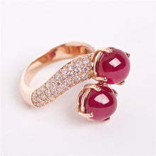 The Zarina - 18K Cabochon Ruby and Diamond ring