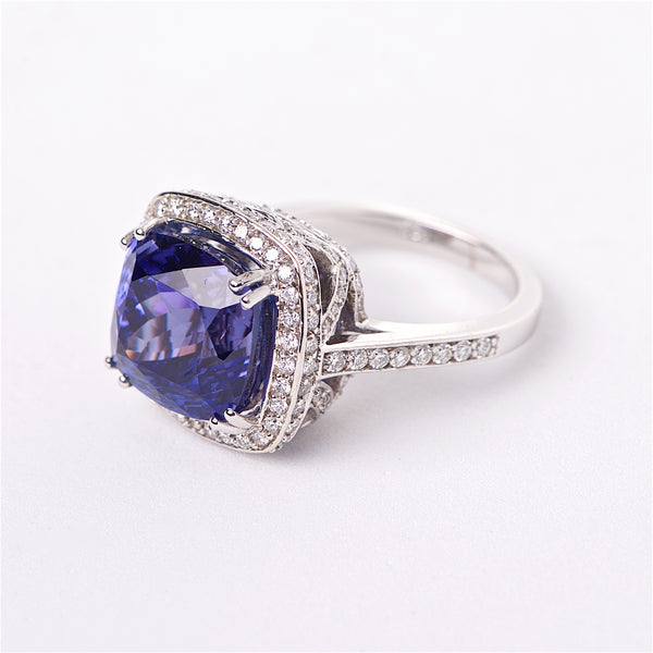 The Liliana - Tanzanite and Diamond Ring