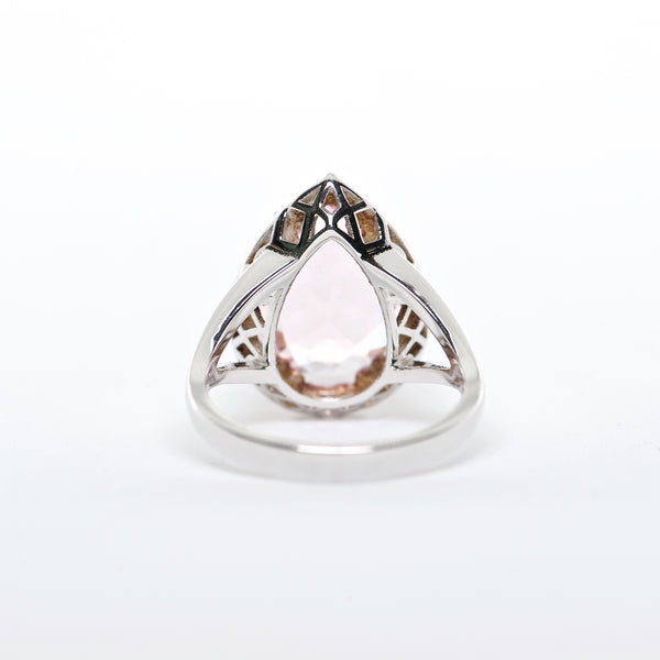 The Rosanna - 18K Pink Topaz and Diamond ring