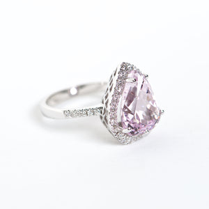 The Alia - 18k Pink Topaz and Diamond ring