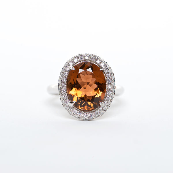 The Ramona - 18K Tourmaline and Diamond ring