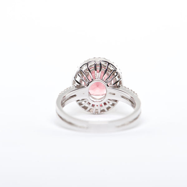 The Sally - AAA 18K Vibrant Red Spinel and Diamond ring