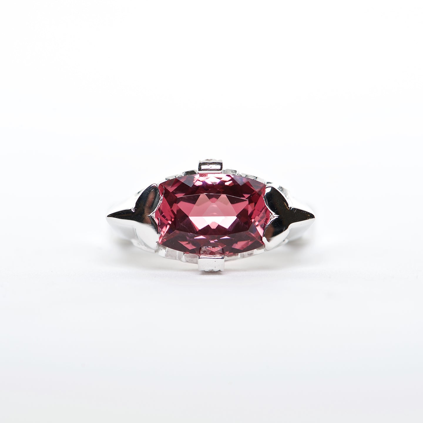 The Hannah - 18K Red Spinel and Diamond Ring