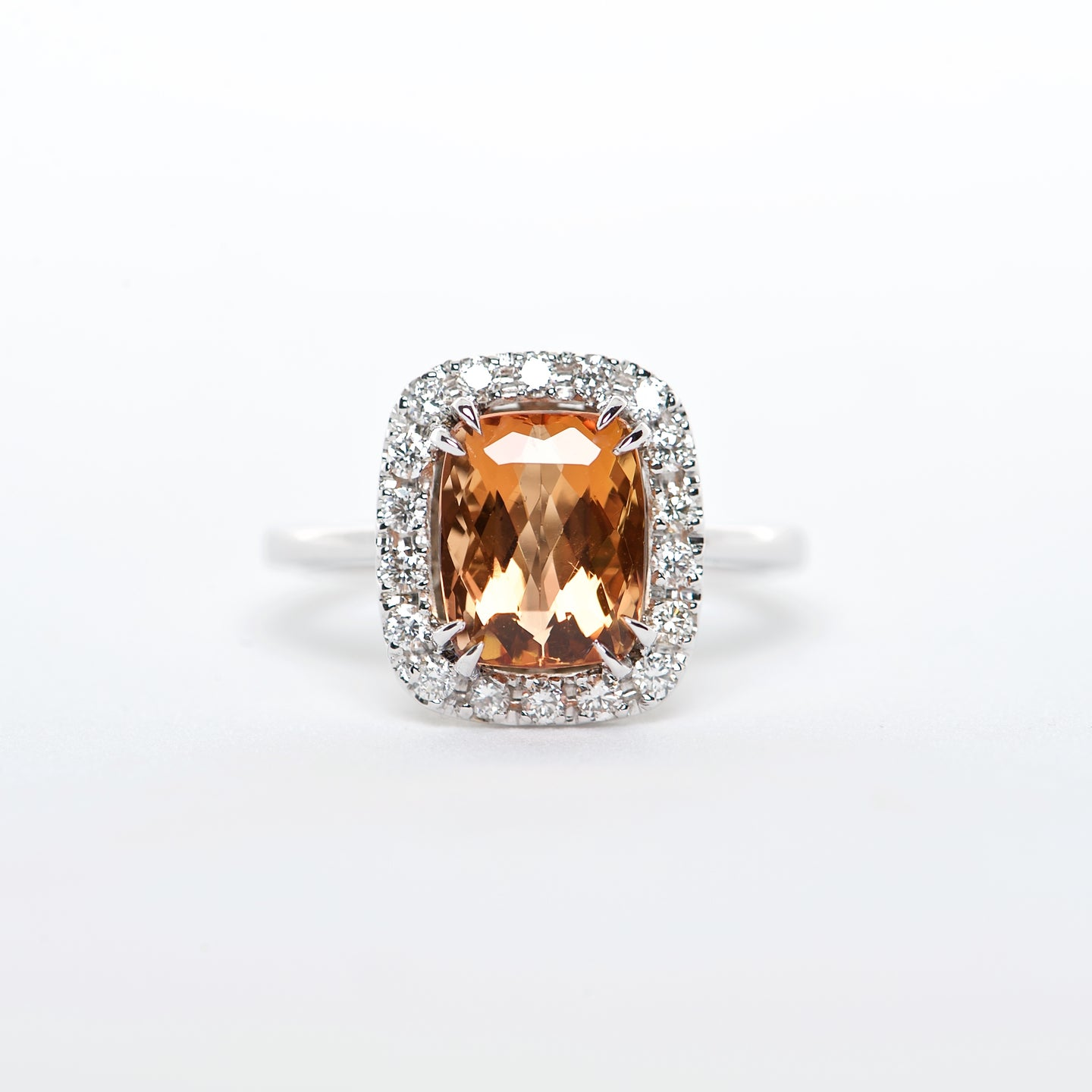 The Serena - 18K Imperial Topaz and Diamond ring