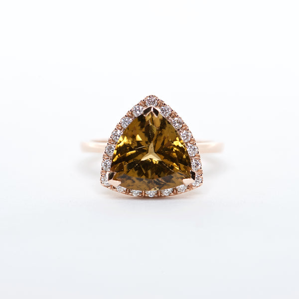 The Hailey - AAA 14K Tourmaline and Diamond ring