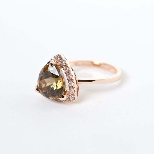 The lilwen - AAA 14K Tourmaline and Diamond ring