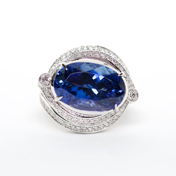 The Bella - Tanzanite and Diamond Ring
