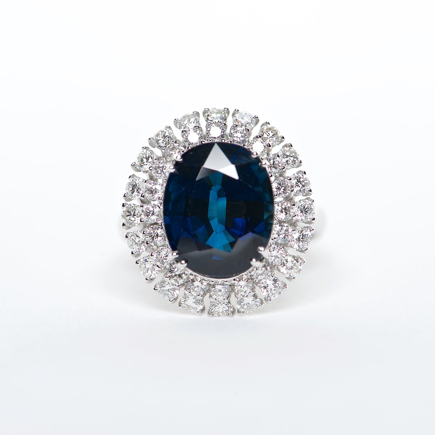 The Maya - 18K Blue Sapphire and Diamond Ring