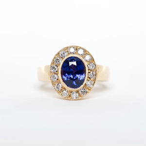 The Riley - 18K Blue Sapphire and Diamond ring