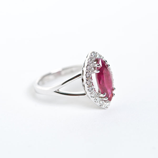 The Athena - AAA 18K Ruby and Diamond ring