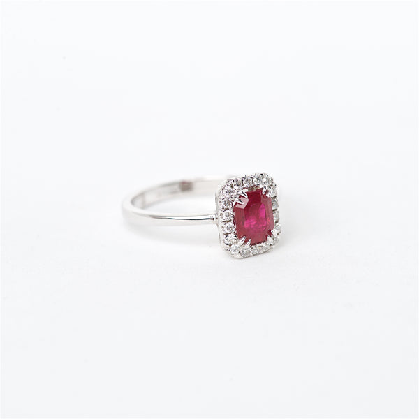 The Giselle - 18K Ruby and Diamond ring