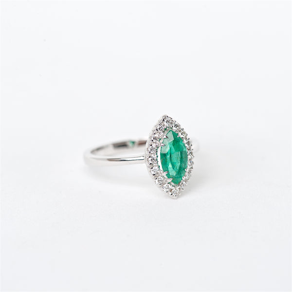 The Sienna - 18K Colombian Emerald and Diamond ring