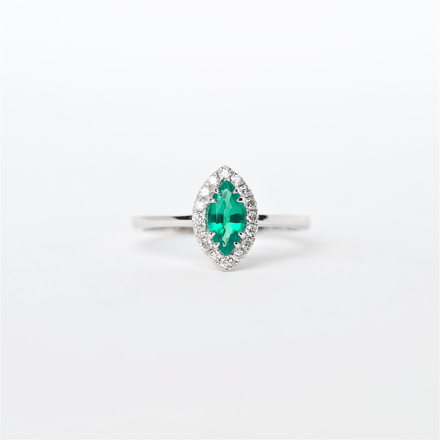 The Lucia - 18K Colombian Emerald and Diamond Ring