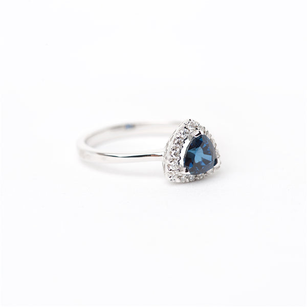 The Adyson - 18K Blue Sapphire and Diamond Ring