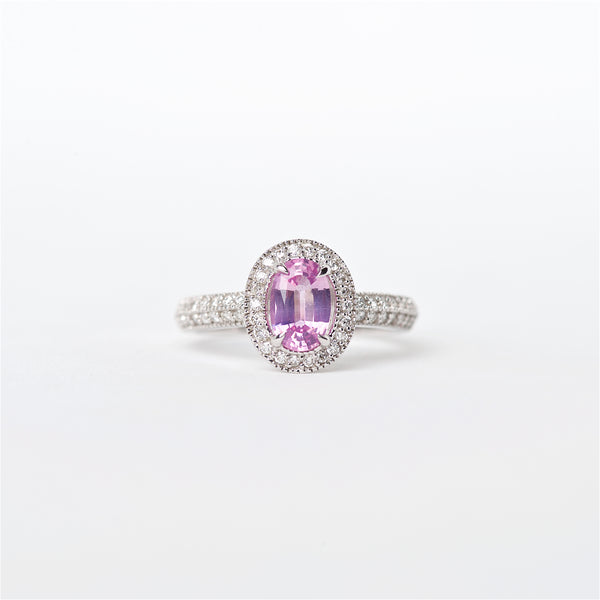 The Julia - 18K Pink Sapphire and Diamond Ring