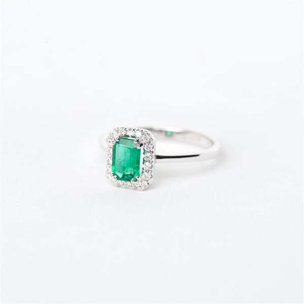 The Willow - 18K Emerald and Diamond ring
