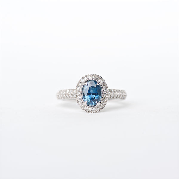 The Destiny - 18K Blue Sapphire and Diamond Ring