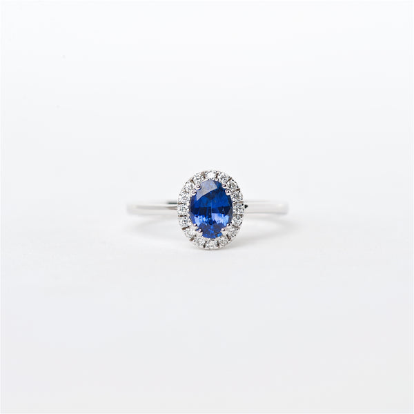 The Livie - 18K Blue Sapphire and Diamond Ring