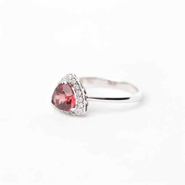 The Ace - 18K Red Spinel and Diamond Ring