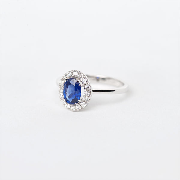 The Rachel - 18K Sapphire and Diamond Ring