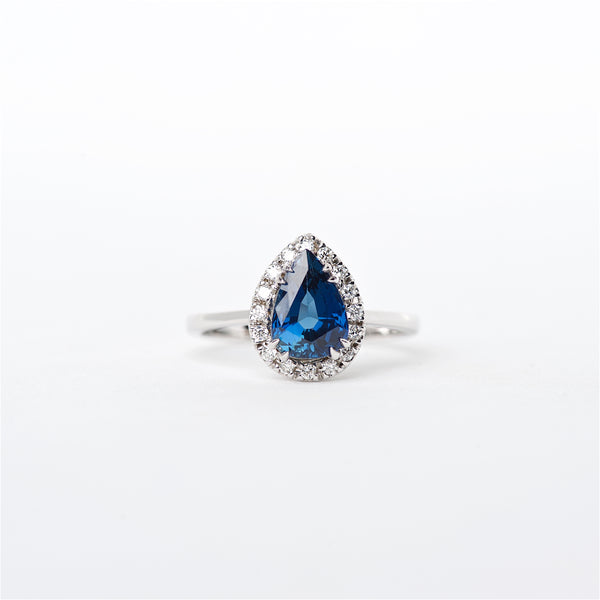 The Tessa - 18K Blue Sapphire and Diamond Ring