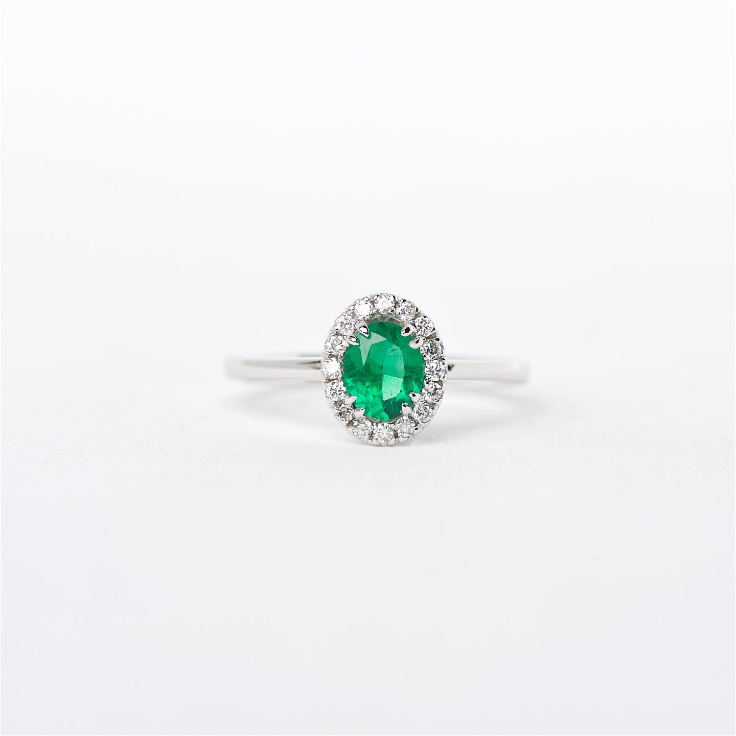 The Hope - 18K Colombian Emerald and Diamond Ring
