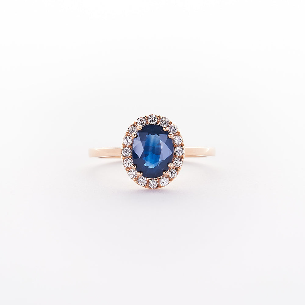 The Azuly - 14K Rose Gold Sapphire Ring