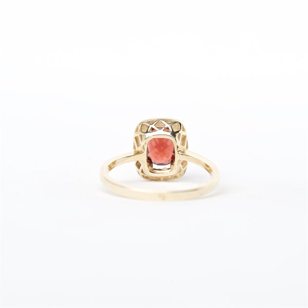 The Skylar - 14K Garnet and Diamond Ring