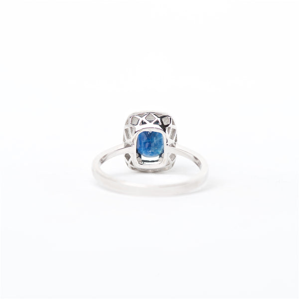 The Genesis - 14K Blue Sapphire and Diamond Ring