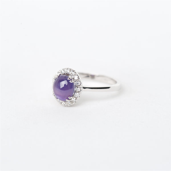 The lexi - 18K Star Sapphire and Diamond Ring
