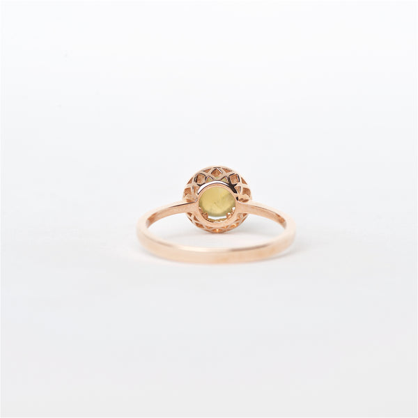 The Brooke - 14K Cat Eye Alexandrite and Diamond ring