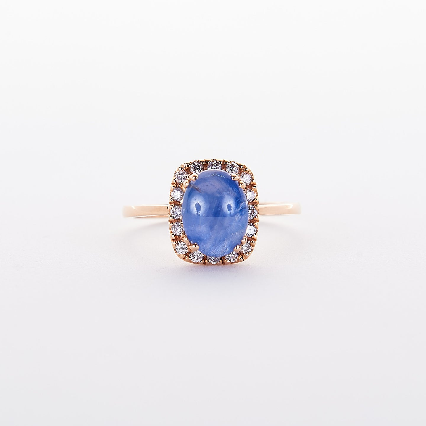 The Stormy - 18K Rose Gold Star Sapphire Ring