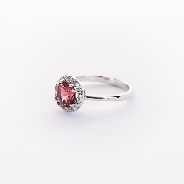 The Tianna - 14K White Gold Pink Tourmaline Ring