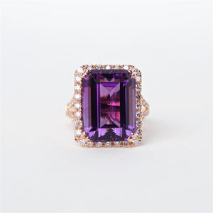 The Aaliyah - 14K Amethyst Ring