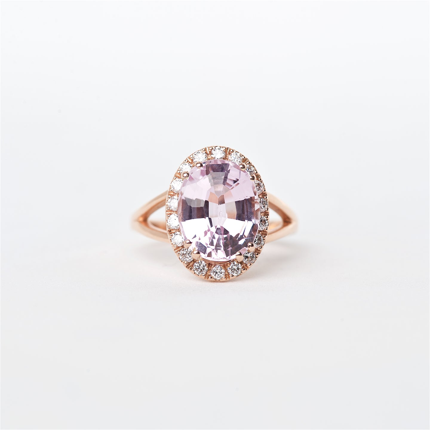 The Kory - 14K Kunzite and Diamond ring