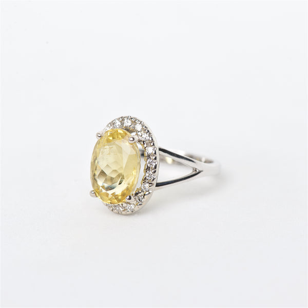 The Cassidy - 18K Yellow Tourmaline and Diamond Ring