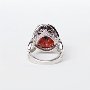 The Adar - 18K Spessarite Garnet and Diamond Ring