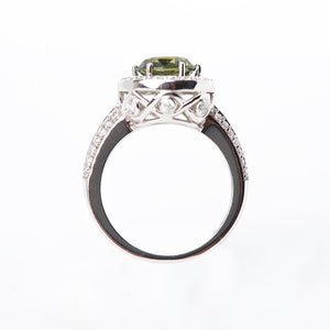 The Sadie - 18K Natural Color Changing Sapphire and Diamond Ring