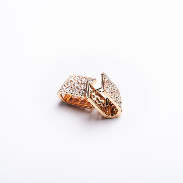 The Bebe - 18K Rose Gold and Diamond Earrings