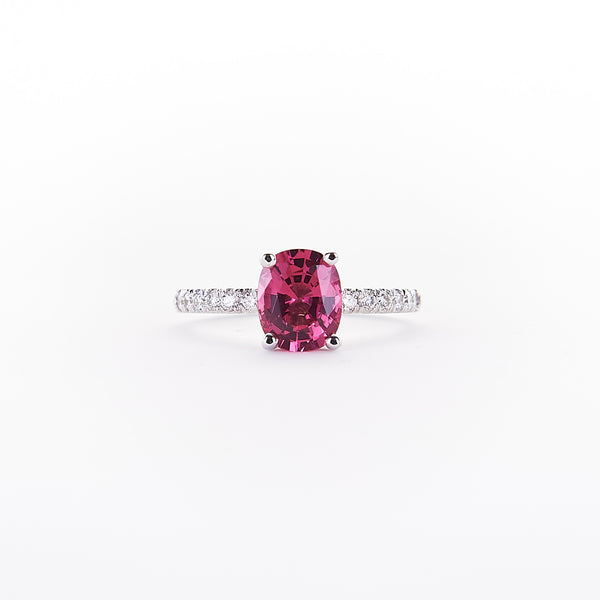 The Hillary - 18K White gold and Spinel Ring